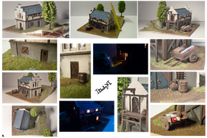 medieval storehouse miniature -detail-