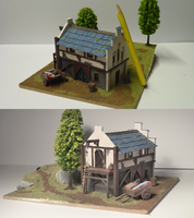 Medieval storehouse miniature