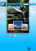 E Travel Web layout design by Oliver240693