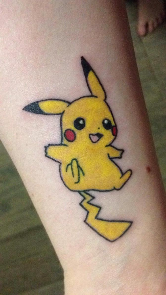 pikachu tattoo by shencat on deviantart. Black Bedroom Furniture Sets. Home Design Ideas