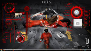 Full screen of akira rainmeter theme