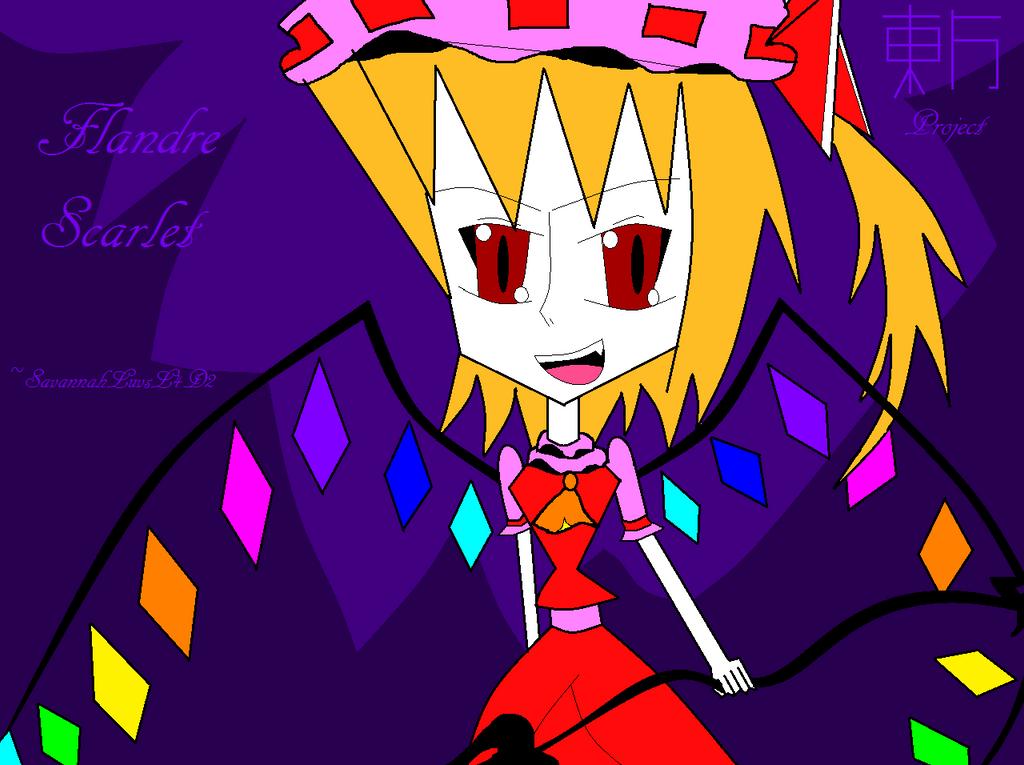 Flandre Scarlet- Colored by SavannahLuvsL4D2