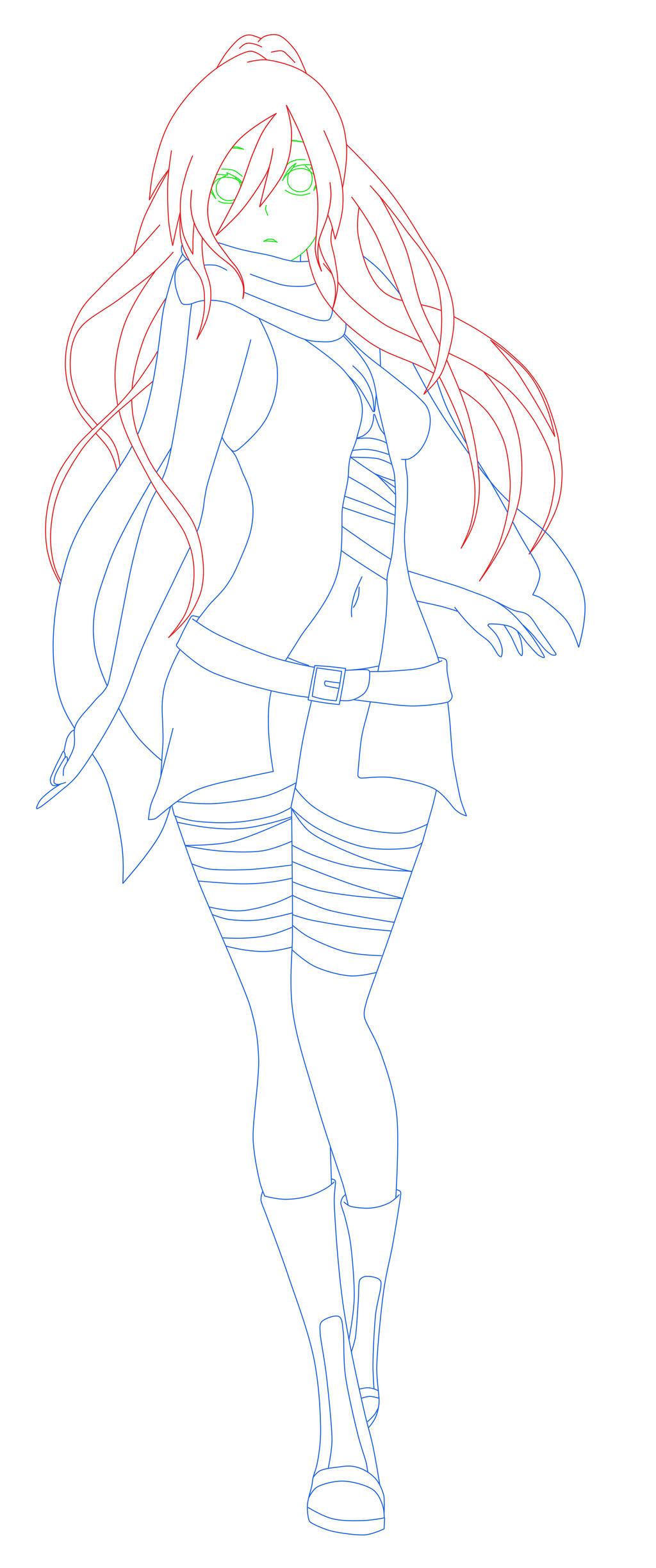 Full Body  Hatsu-chan :3 by HatsuriAndBlackNight