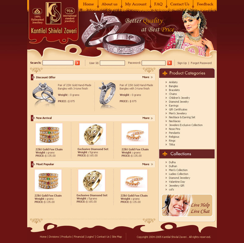 Webinterface-for-Jewellery by artistsanju