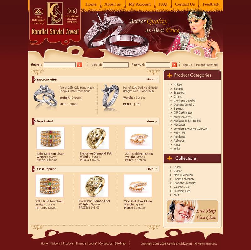 Webinterface-for-Jewellery by artistsanju