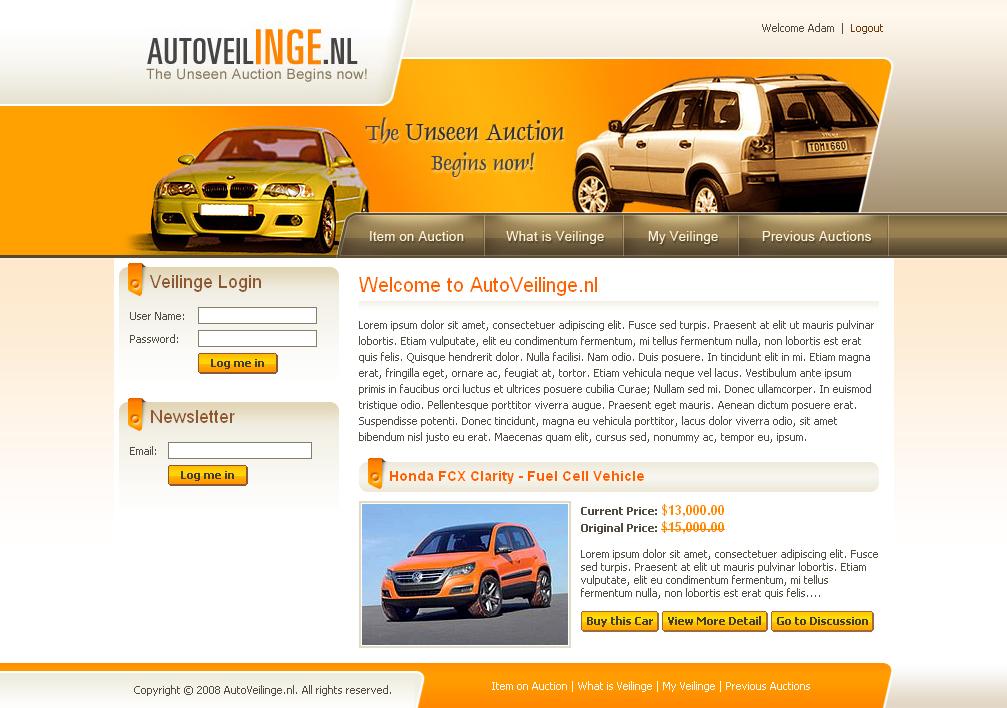Webinterface for Car Dealers4 by artistsanju