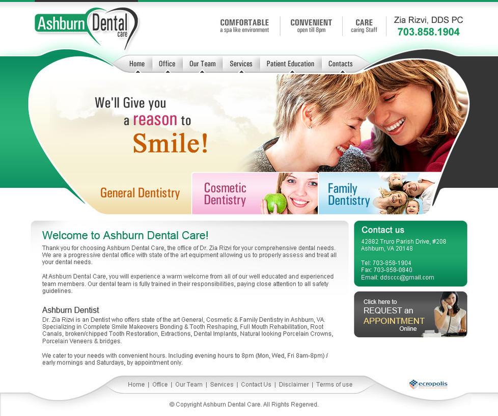 Dental Care1 website by artistsanju