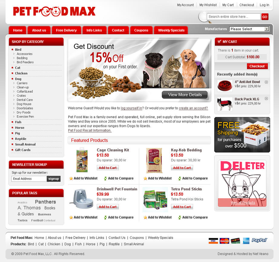 Template Design for Magento by artistsanju