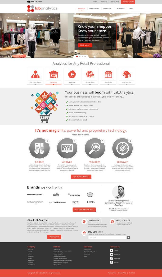 Lab Analytics responsive design for wordpress by artistsanju
