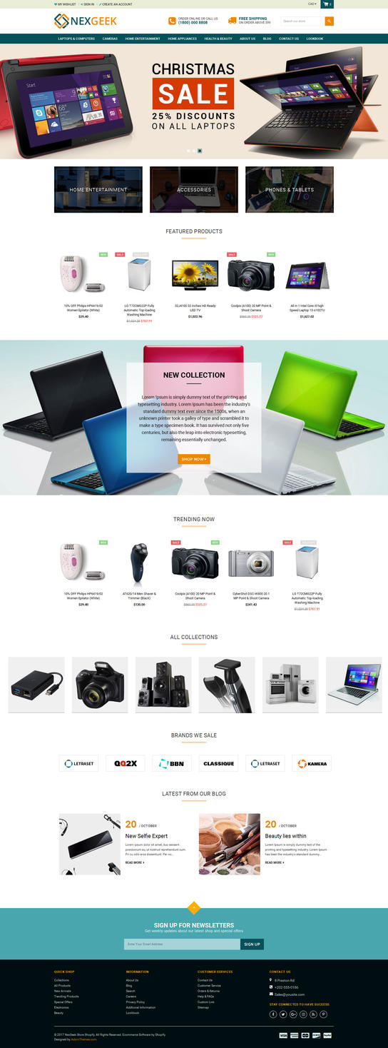 NexGeek - Multipurpose Responsive Shopify Theme by artistsanju