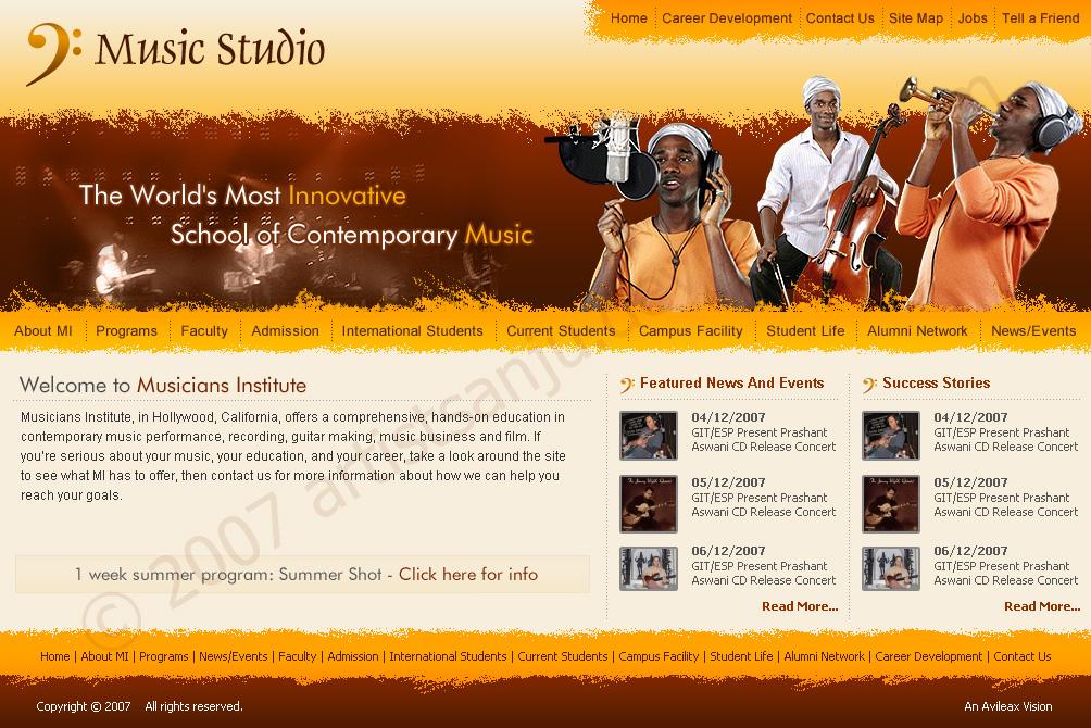 Music Studio Web Interfaces by artistsanju