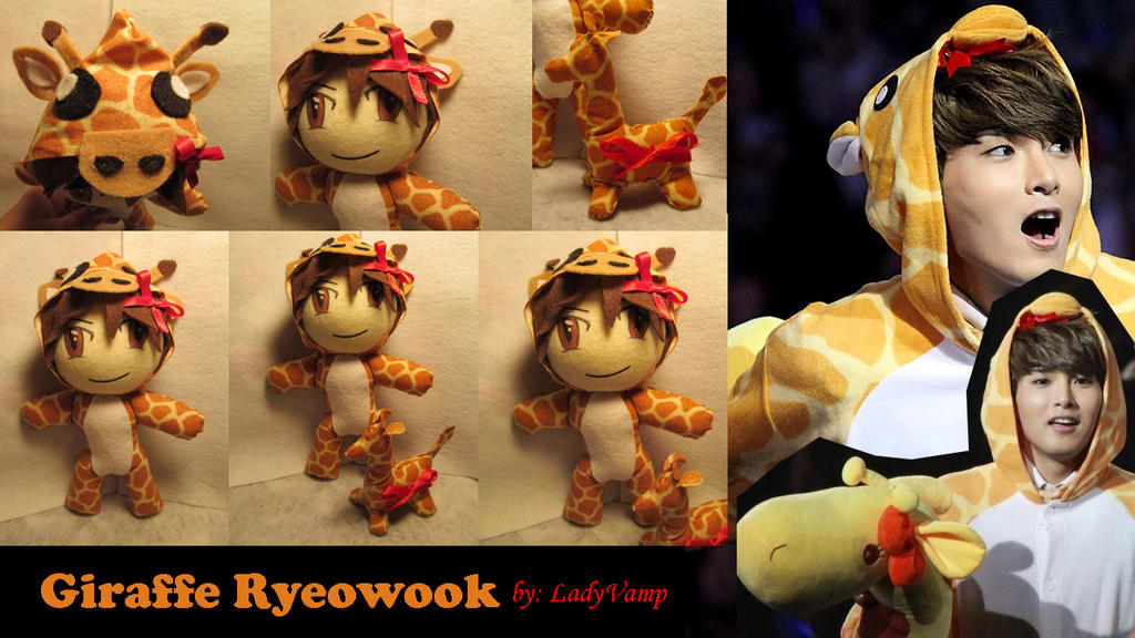 Ryeowook Giraffe Doll by VilleVamp