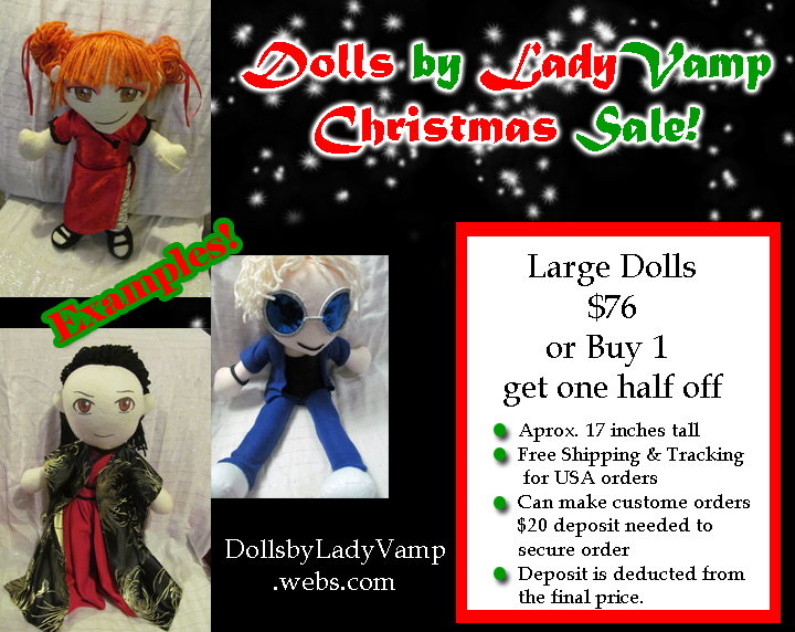 Large doll sale by VilleVamp