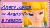 Angry Zelda stamp by Queen--Zelda