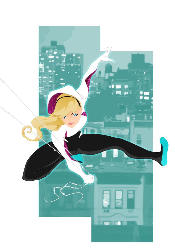 Spider-Gwen unmasked by WeaponXIX