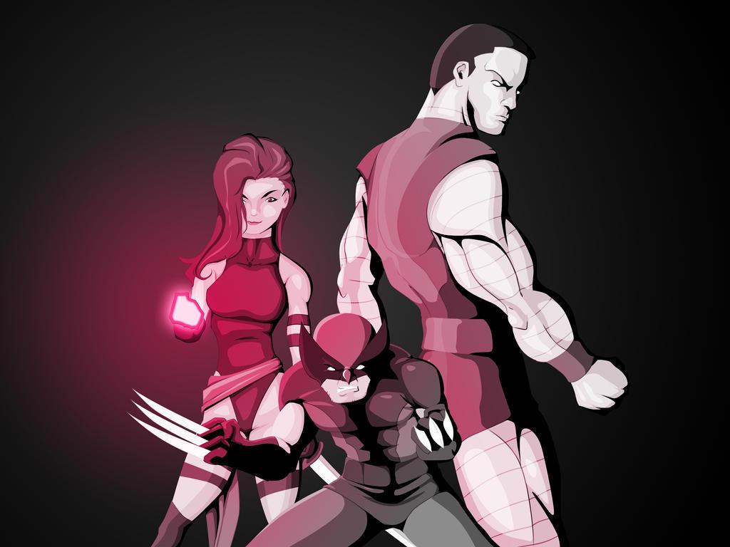 X-Men in pink by WeaponXIX