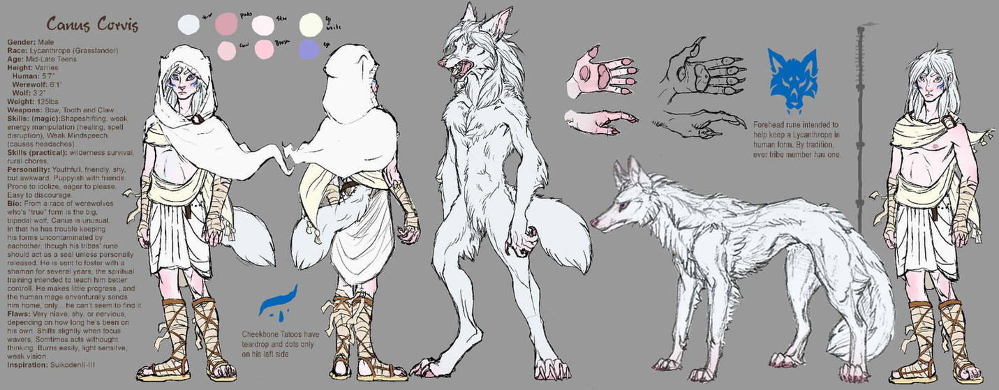 Canus Ref WIP by SadWhiteRaven