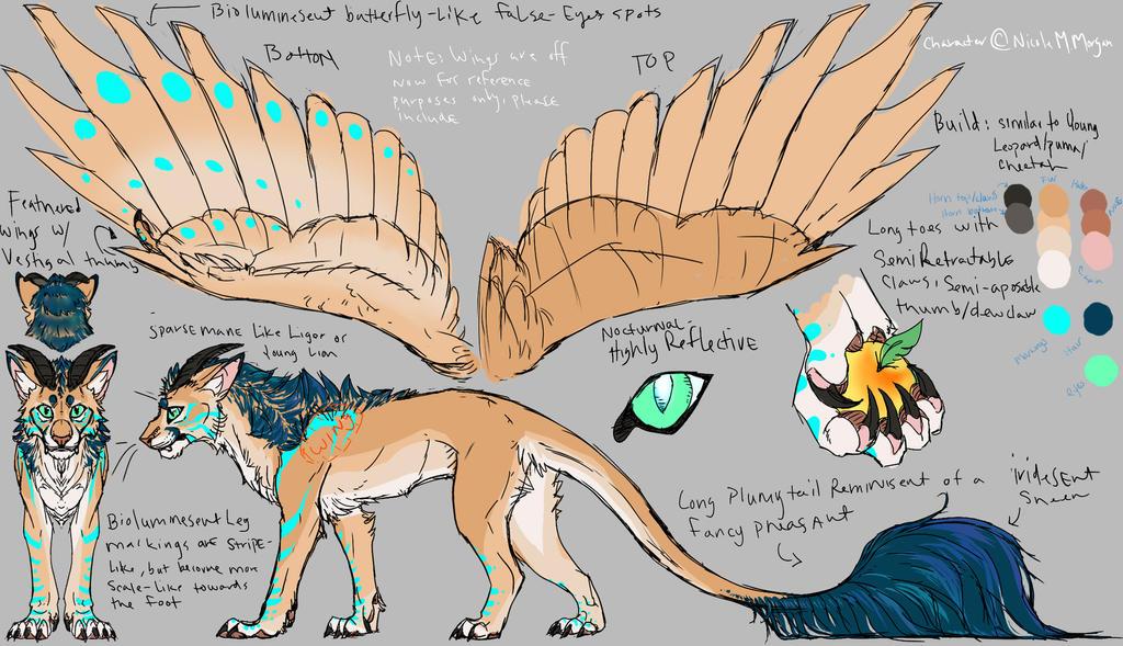 Adrain Beast Form Ref Sheet by SadWhiteRaven