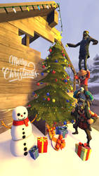 TF2 Merry Christmas (2018) by MURAIKAO
