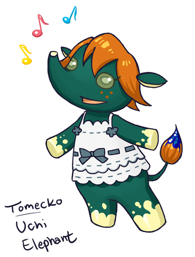Animal Crossing Persona: Uchi Elephant by Tomecko