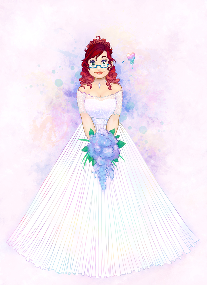Bride with a Rainbow Heart by Tomecko