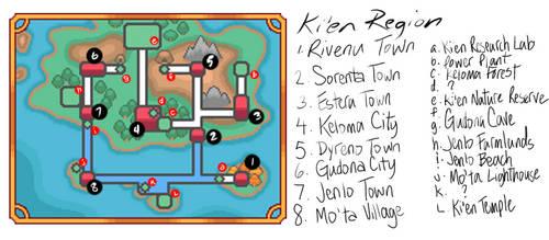 Ki'en Region Labelled - Fan-made Pokemon Region