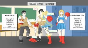 Class Change TG: Nerd to Cheerleader