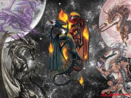 Dragons by Karinaferrer