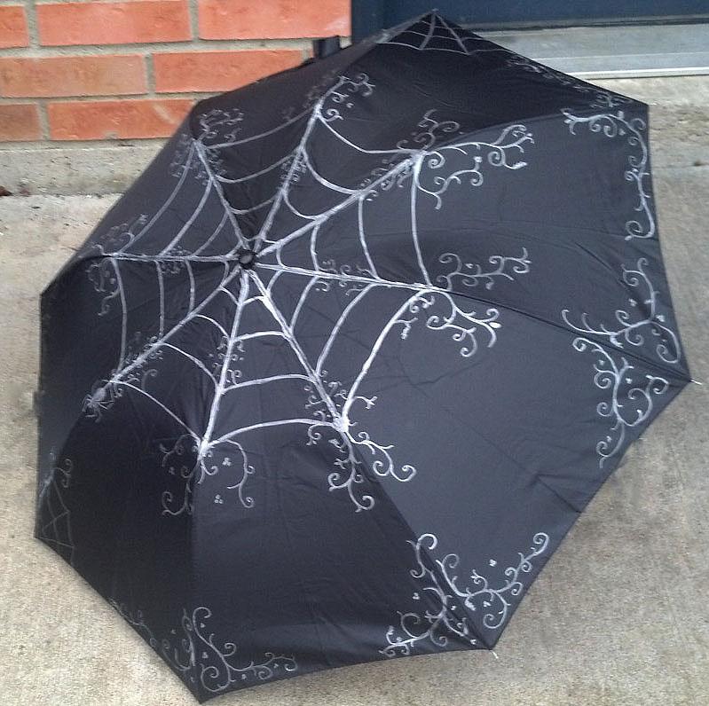 Gothic Neo Victorian Style Spider Web Umbrella by CyberFreakedd