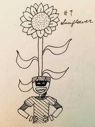 Day 9: Sunflower by MrsEveTwo