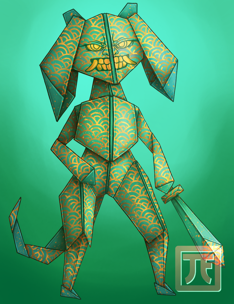 Origami Warrior by T-Finbo
