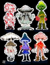 Mushroom sprites [1/6 open] by Slo-s