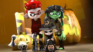 Halloween Family by MaekaENDERFOX35