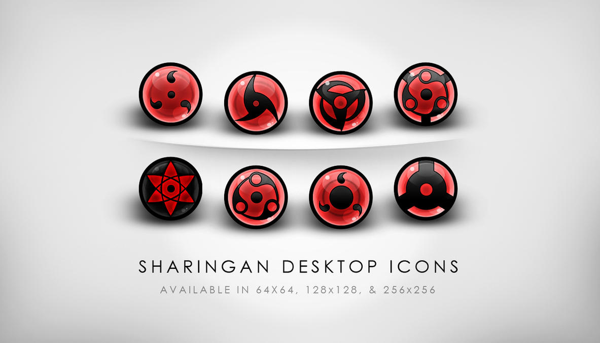 HQ Sharingan Desktop Icons by yuffie