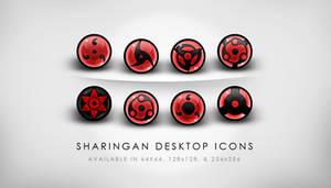 HQ Sharingan Desktop Icons