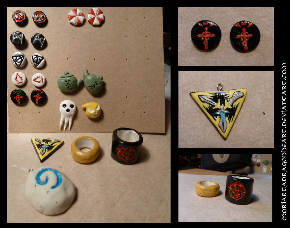 Fimo earring designs