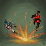 Rocket launcher battle!