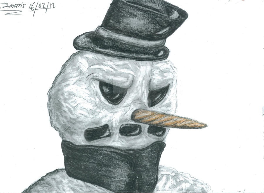 freaky the scary snowman drawing by theartfulshow on deviantart