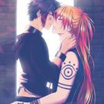 A Kiss On The Run ~ Nanbaka Fanart