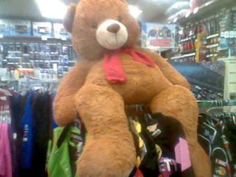 Giant teddy bear by MusicFreakBoi