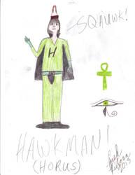HawkMan (Horus as a superhero) by MusicFreakBoi