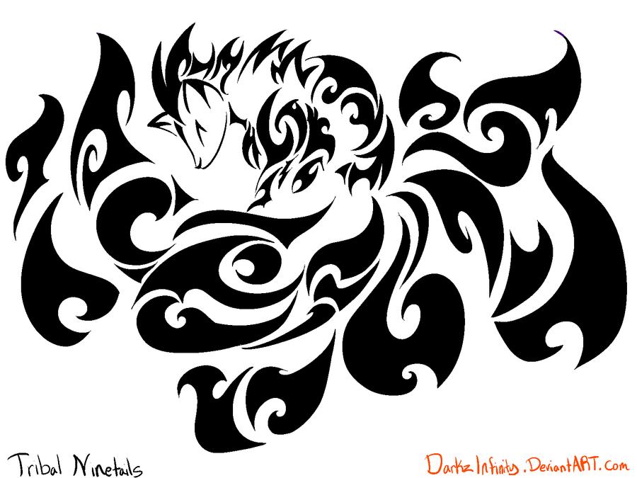 tattoo on Pinterest | Nine D'urso, Fox Tattoo Design and ... |Tribal Nine Tailed Fox Tattoos