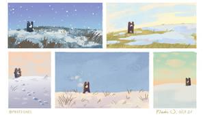 Speedypaints - snowy days 04