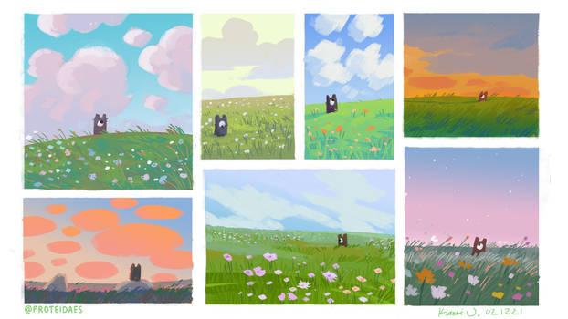 Speedypaints - vibrant skies