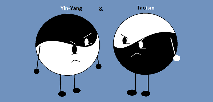 taoism and yang Yin-yang: a taoist symbol introduction it's everywhere the classic yin-yang symbol, seen more and more these days, is a circular symbol, half-black and half-white, with a small dot of white on the black side, and a small black dot on the white side (see example in appendix a.