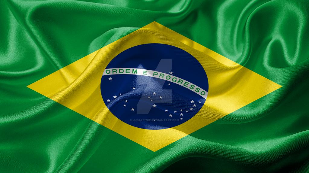 Federative Republic Of Brazil Realistic Flag By JuDaleik On - Federative republic of brazil map