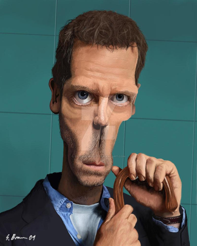 Dr. House Caricature by SamBrownArt