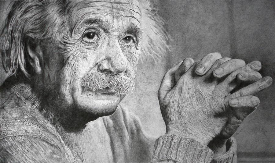 Albert Einstein by SamBrownArt
