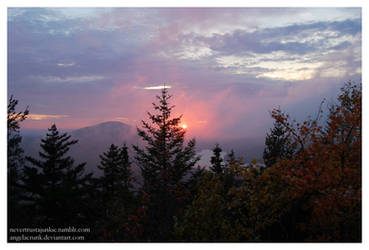 Sunset in Vermont. by angelaCRUNK