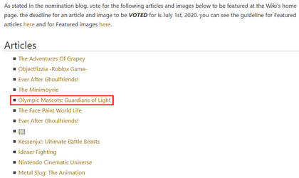 OMGOL is nominated for Featured Page!